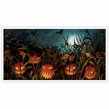 1.65m Halloween PUMPKIN FIELD OF SCREAMS Party Wall Poster Banner Decoration