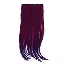Clip Innen Glatt Blau Lila Haar Verlaengerung synthetische Faser Haarteil D R3S2