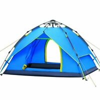 2-3 Person Camping Dome Tent Instant Pop Up Waterproof Double Layer Sun Canopy