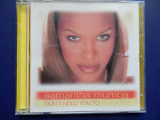Samantha Mumba Don't need you to (tell my i'm pretty) Rare USA only CD single