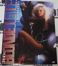 Janine Lindemulder Signed Original '93 Blonde Justice 17x22 Movie Poster BAS COA