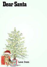 Bambini Natale 5Pcs lettera a Babbo Natale Set Matita Lista dei desideri SCRIVERE Regalo UK