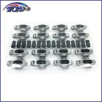 New Small Block Chevy Stainless Steel Full Roller Rockers Arms 1.6 Ratio 7/16