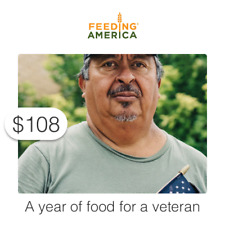 $108 Charitable Donation For: A year of food for a veteran