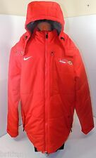 Nike Red Storm Fit Baltimore Ravens Hooded Puffer Coat Sz M #716