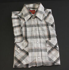 Plains Western Wear Pearl Snap Shirt  Size S