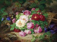 Bouquet of rose flowers Tile Mural Kitchen Bathroom Backsplash Marble Ceramic