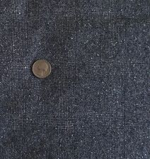 """Grey & White Check Plaid Wool Flannel Fabric Very Soft 57""""Wide x 3 Yards"""