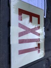 Cooper Sure Lites Chicago Approved Right Arrow Stairs Sign Exit Lens