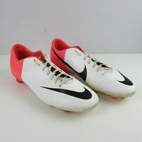 NIKE MERCURIAL MIRACLE III FG 509122 106 MENS SOCCER UK 13 EUR 48.5 White Pink