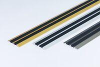 """Flat Threshold Carpet Door Aluminium Floor Edging bar Trim Strip 45mm x1M 39.37"""""""