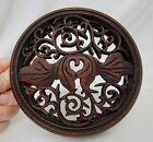 Antique Chinese Carved Wood Ginger Jar Lid - 82457