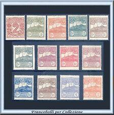 1921/23 San Marino Cifra o Veduta Serie completa n. 69/81 Nuovi Integri **