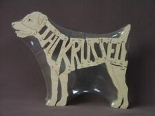 Jack Russell Dog Wood Amish made Toy Scroll Saw Puzzle