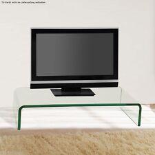 Robuster TV Schrank-Aufsatz 55cm Fernsehtisch Glasplatte Aufsatz transparent top