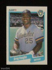24 LOT 1990 FLEER GREG VAUGHN BREWERS ROOKIE CARD MINT U.S.A