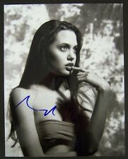 Young ANGELINA JOLIE signed 8x10 photo, with COA