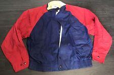 Vintage Lacoste Izod Full Zip Windbreaker Jacket Men's M Color Block Red Blue