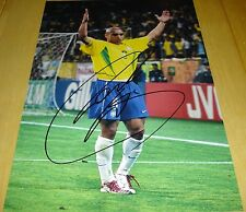 ROBERTO CARLOS BRAZIL BRASIL PERSONALLY HAND SIGNED AUTOGRAPH 12X8 PHOTO SOCCER