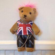 UNION JACK BRITISH Punk Beanie Orso-GB, VELVET Bean Bear Co