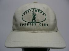 Persimmon Country Club - Beige - One Size Adjustable Strapback Ball Cap Hat!