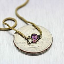 "1880s Antique Victorian Gold 48""Inch Synthetic Amethyst Pendant Necklace   MX"