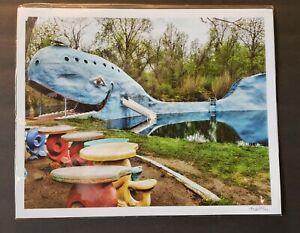 Route 66 Blue Whale 12x15 Print By Mia Bella Art. (New in Package)
