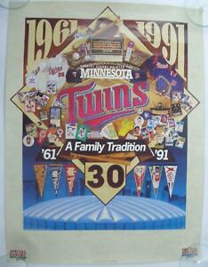 Minnesota Twins 1961-1991 Poster A Family Tradition Special Export Beer 18x24