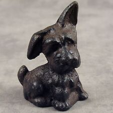 Scottish Terrier Pup Scottie Dog Solid Cast Iron Miniature Statue Paperweight