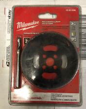 "MILWAUKEE 49-56-0296 Recessed Lighting Hole Saw Carbide Grit 3-1/8"", Black"