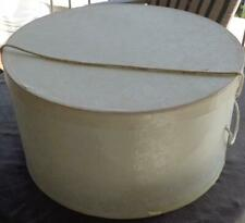 Lovely Vintage Hat Box - Large Size - Embossed Paper Covering - Beautiful Box