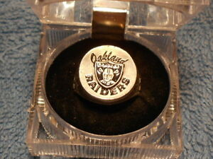 OAKLAND RAIDERS  N. F. L. FOOTBALL HAND PAINTED   PEWTER RING SIZE 10  1/2 NEW