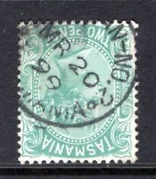 Tasmania STRAHAN WEST postmark (STRAHAN No 2) on QV sideface rated R by Hardinge