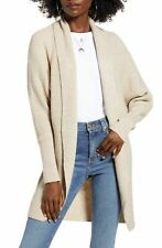 Leith Women Sweater Classic Light Beige Size Small S Open Knit Cardigan $60- 006