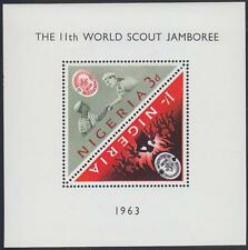 Nigeria 1963 Scout Pfadfinder, Mi.136-137: Bl.1 MNH