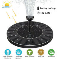 Upgraded Solar Multi Pattern Fountain Solar Fountain Pump With Battery Backup