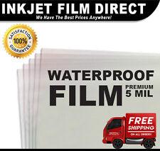 "5 MIL - Waterproof Inkjet Film Transparency 17"" x 22"" 1 pack - 100 sheets"