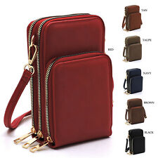 Fashion Womens Crossbody Bag Fashion Cell Phone Purse Multi Compartment Wallet