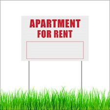 Apartment For Rent Yard Lawn Sign Outdoor Garden Decor Corflute Sign With Stakes