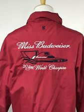 Mens Medium Miss Budweiser Racing Racket Hooded Red Boat 20 Time World Champion