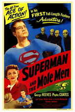 SUPERMAN AND THE MOLE MEN Movie POSTER 27x40 George Reeves Phyllis Coates Jeff