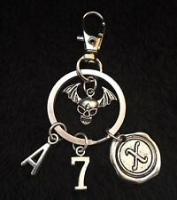 Avenged Sevenfold Keyring Death bat Key Chain Skull Charm Clip A7X Matt Shadows