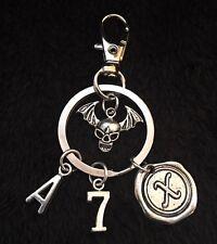 Avenged Sevenfold Keyring Death bat Key Chain Skull Charm Clip A7X Matt Shadows