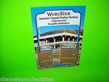 V 21 V 24 V 33 V 36 By WURLITZER ORIGINAL NOS CIGARETTE VENDING MACHINE FLYER