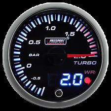 Prosport 60mm JDM Electrical Boost Gauge - METRIC- BAR