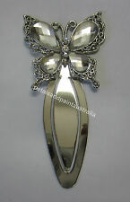 New Bookmark With A Pretty Jewelled Rhinestone Butterfly & Bling Silver Tone