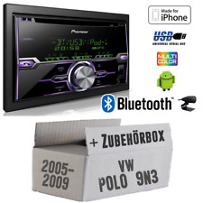 PIONEER AUTORADIO PER VW POLO 9n3 USB/Bluetooth/CD/Android/iPod/iPhone Kit installazione