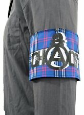 BLUE TARTAN SCREEN PRINTED CHAOS PUNK ARMBAND VINTAGE SEDITIONARIES STYLE 1977