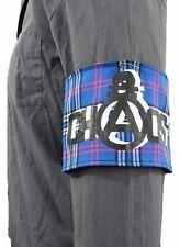 Pantalla Azul Tartán impreso estilo Vintage facciosos Brazalete Punk caos 1977