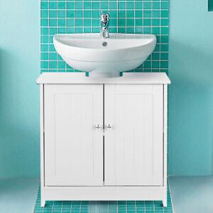 Unter Waschbecken Schrank mit Türen Badezimmer Vanity Furniture 2 Layer P3Y1